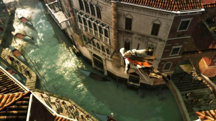 Ezio Diving In The River Near Market