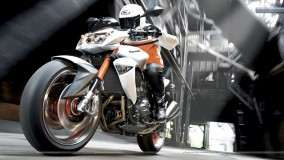Kawasaki Z1000 White Color Test Riding