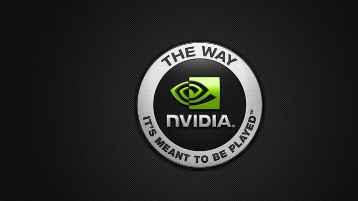 Nvidia Company Logo On Black Dotted Background