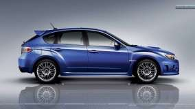 Subaru Impreza WRX STI Car Blue Side Pose