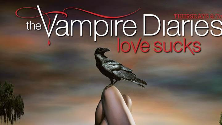The Vampire Diaries Crow Sitting On Elena Leg