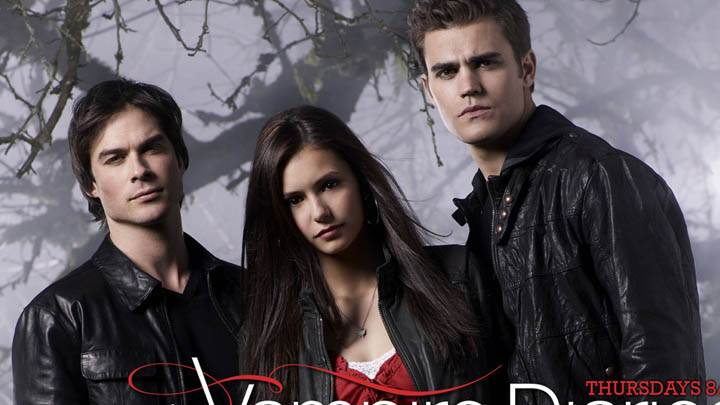 The Vampire Diaries Damon, Elena And Stefan