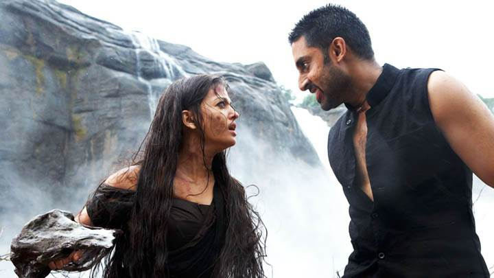 Abhishek And Aishwarya Arguing In Movie Ravan