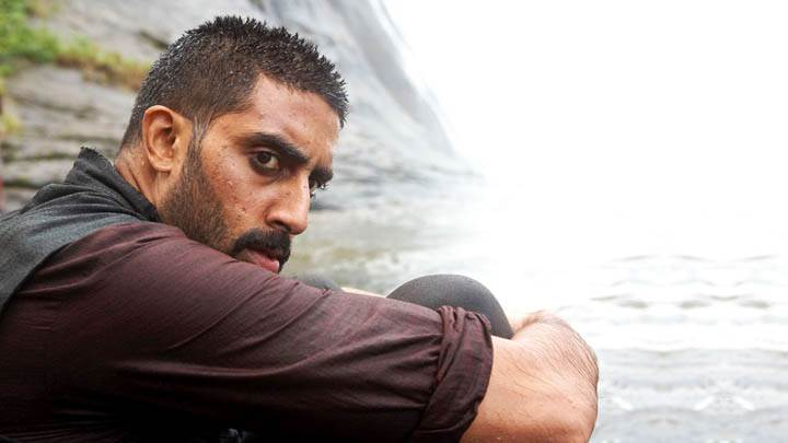 Abhishek Bachchan Is Sitting Near Rock Movie Raavan