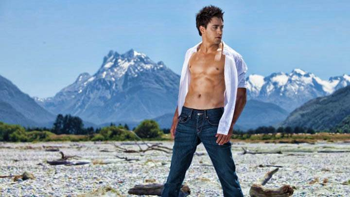 Imran Khan Open Shirt, Showing Body Near Mountains