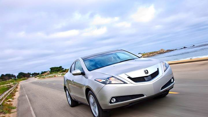 Acura ZDX 2010 Running On Highway In Silver Color
