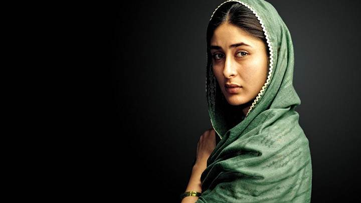 Kareena Kapoor Sade Face In Green Dress