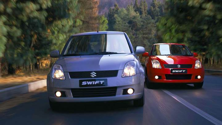 Suzuki Swift Sport Blue And Red Cars Wallpaper