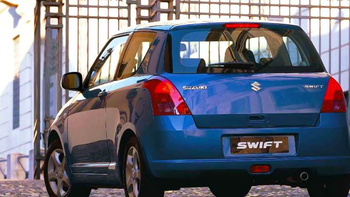 Suzuki Swift Sport Blue Car, Back Shoot