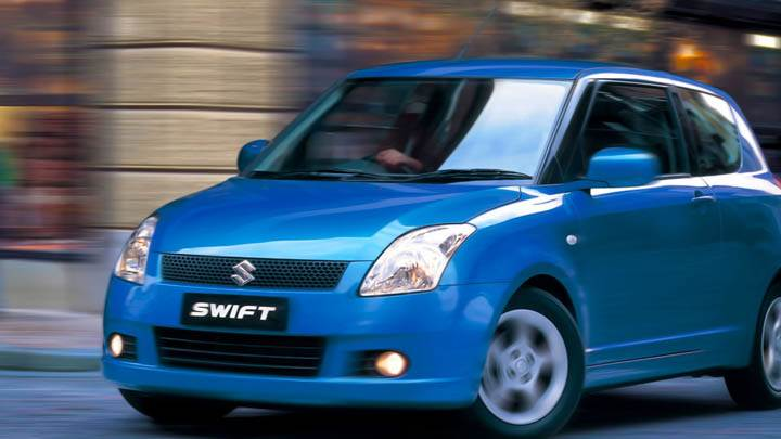 Suzuki Swift Sport Blue Car Outside Street