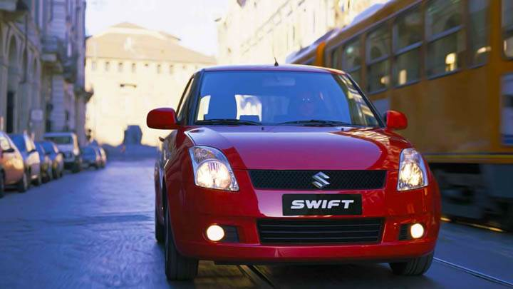 Suzuki Swift Sport Red Lights On Front View