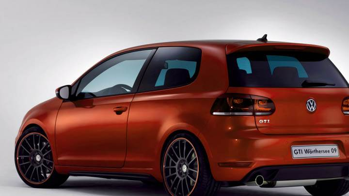 Volkswagen Gti Worthersee 09 Concept Orange Color Car Back Side
