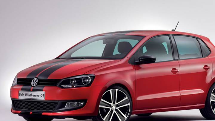 Volkswagen Polo Worthersee 20009 Concept Red Car Black Stripes