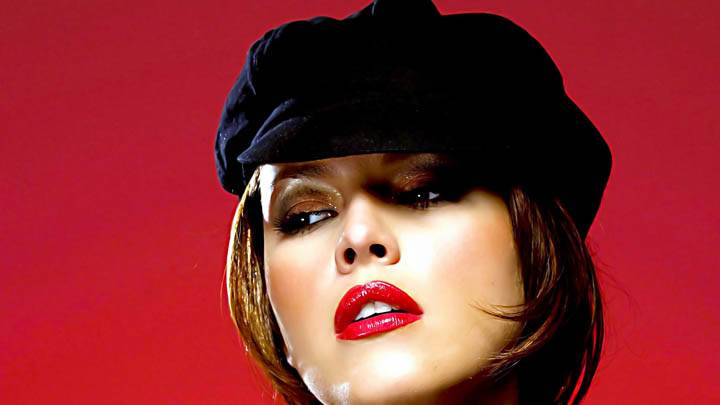 Alicia Machado Black Hat Lookig Sweet