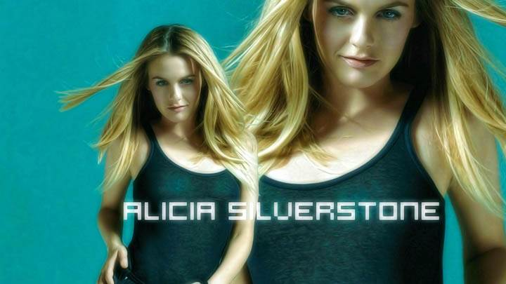 Alicia Silverstone In Black Top Looking Amazing