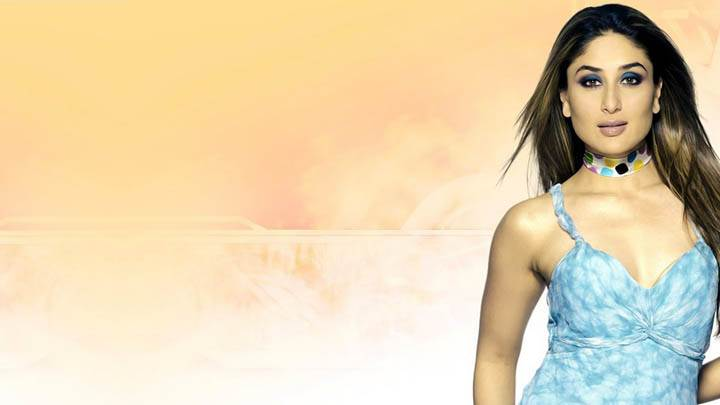 Kareena Kapoor Modeling Pose In Sky Blue Dress