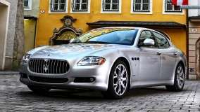 Maserati Quattroporte Front Pose Silver Color