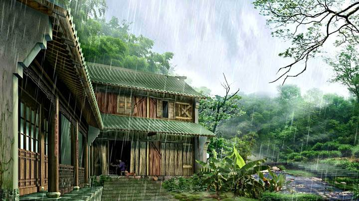 Rainy Day And Nature Home