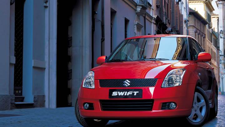 Suzuki Swift Sport Red Car Stret View
