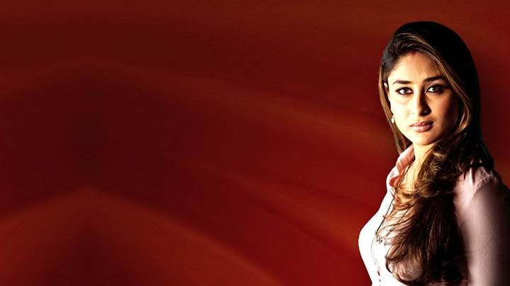 Kareena Kapoor In Pink Top N Red Background