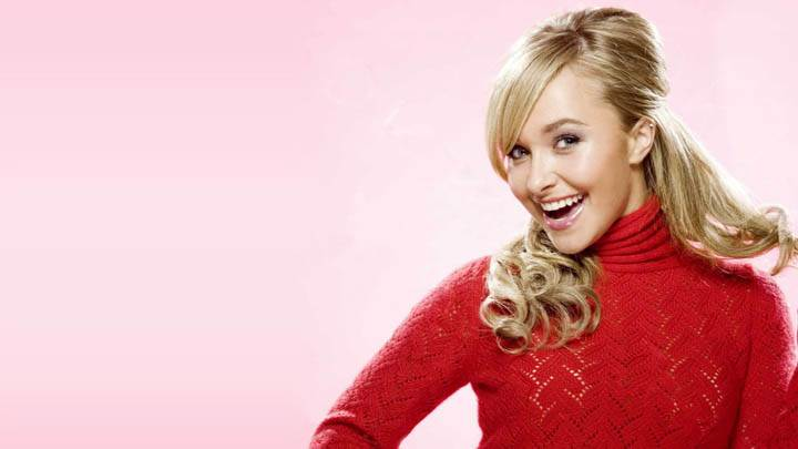 Hayden Panettiere Blonde Hair Red Dress
