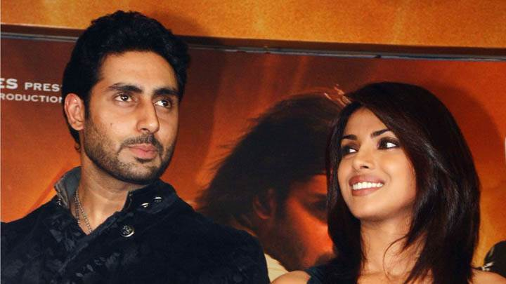 Abhishek Bachchan and Priyanka Chopra in a Show