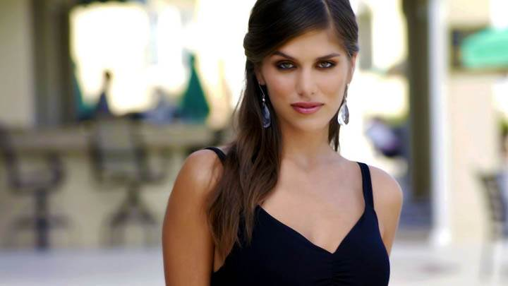 Anahi Gonzales In Black Dress Smiling