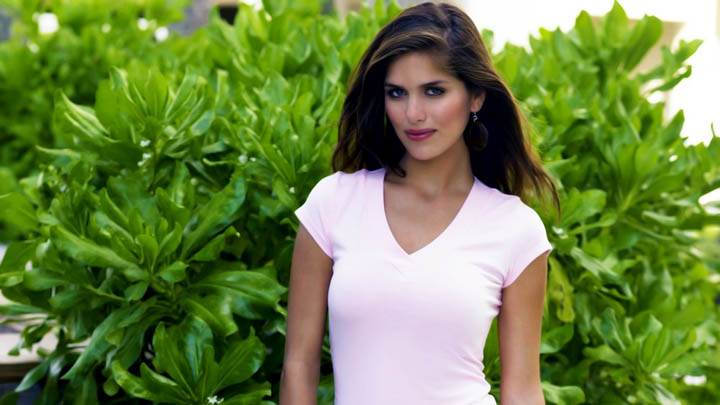Anahi Gonzales Near Plants Simple Pink Dress