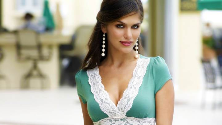 Anahi Gonzales Photoshoot Green Top