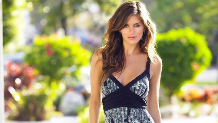 Anahi Gonzales Photoshoot Black N White Dress Smile