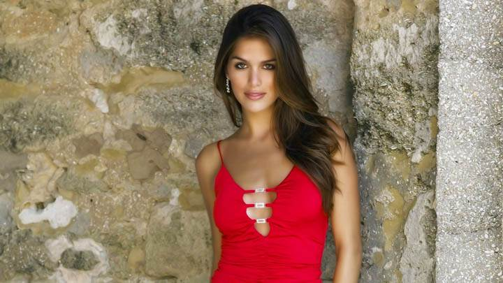 Anahi Gonzales Red Dress Photoshoot