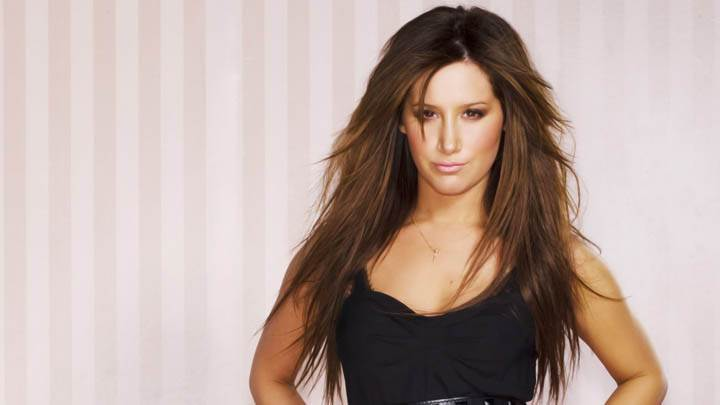 Ashley Tisdale Photoshoot In Black Dress