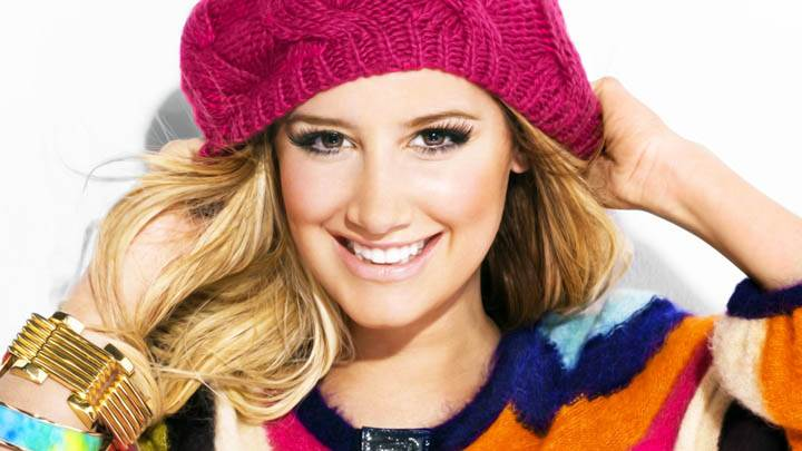 Ashley Tisdale Red Hat Smiling At Camera Cute