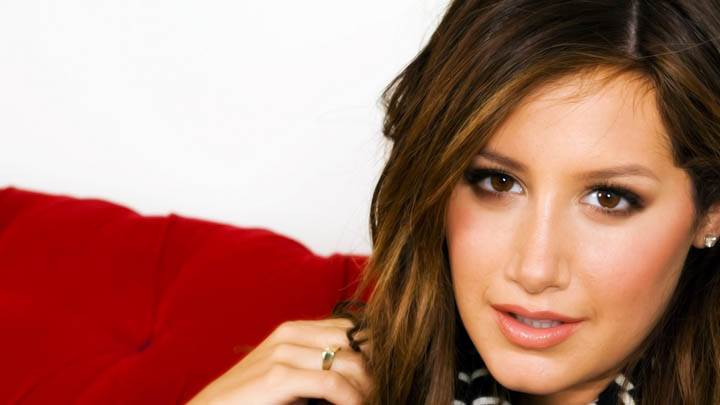 Ashley Tisdale Smiling Looking At Camera
