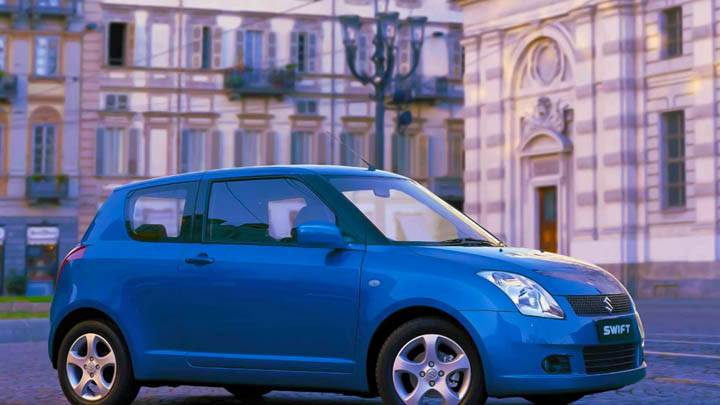 Blue Suzuki Swift Side Photo
