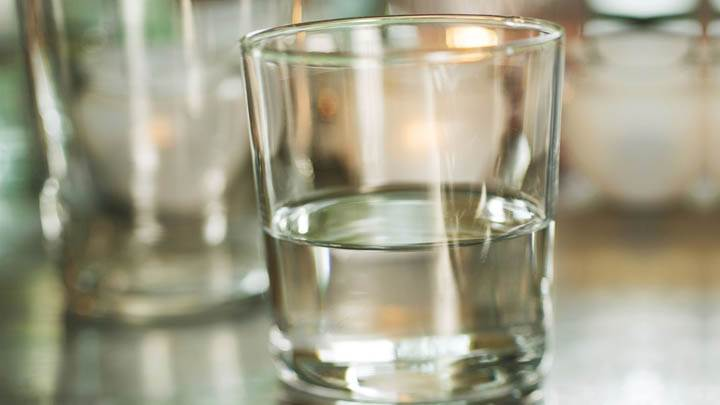 Half Empty Glass of Water