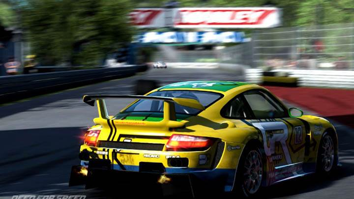 Need For Speed Shift Porsche Back Pose Yellow Green