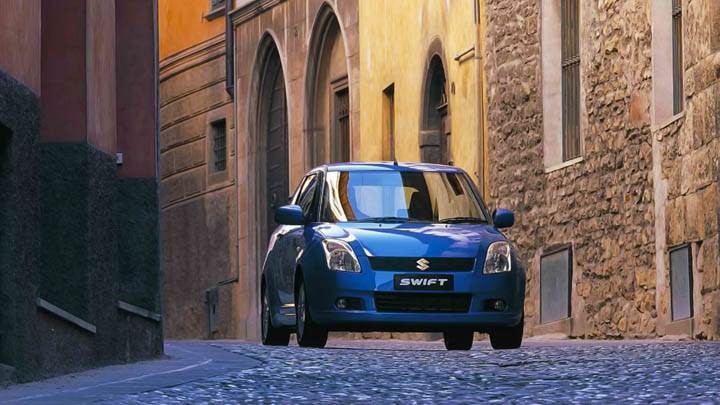 Suzuki Swift Blue Front Street View