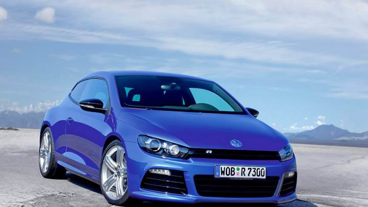 Volkswagen Scirocco R Front Side Pose Blue Car