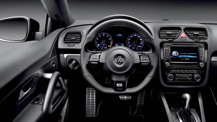 Volkswagen Scirocco R Interior Front Stearing Wheel Wallpaper