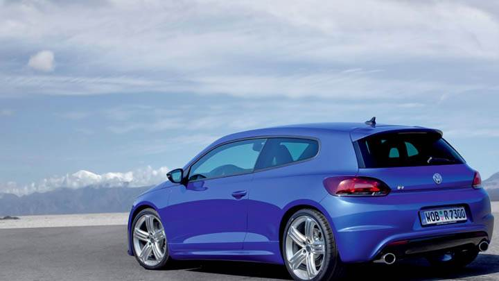Volkswagen Scirocco R Side Back Blue Car