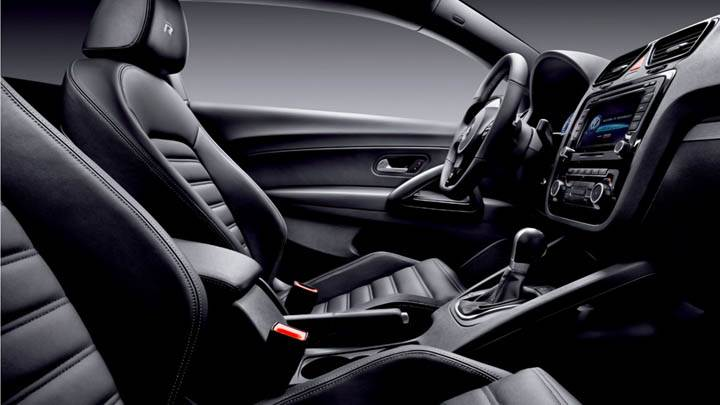Volkswagen Scirocco R Side Pose Interior Seats