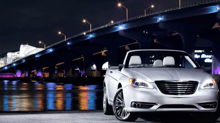 2011 Chrysler 200 Convertible Near Bridge In Night