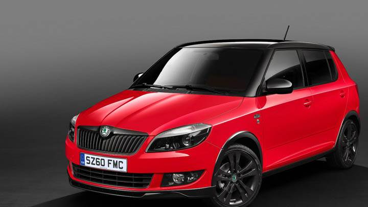 2011 Skoda Fabia Monte Carlo Red Color