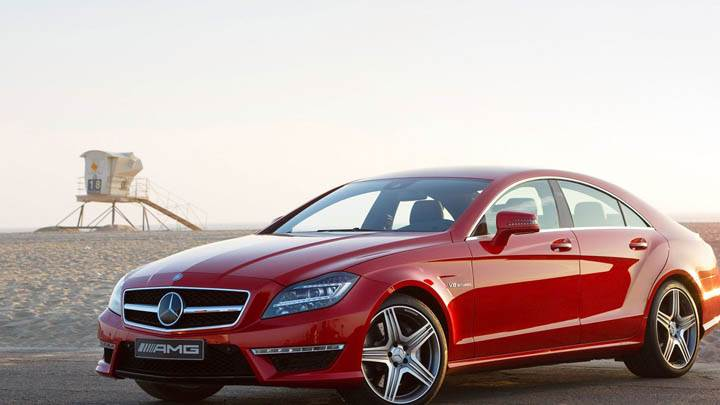 2012 Mercedes-Benz CLS63 AMG Red Color