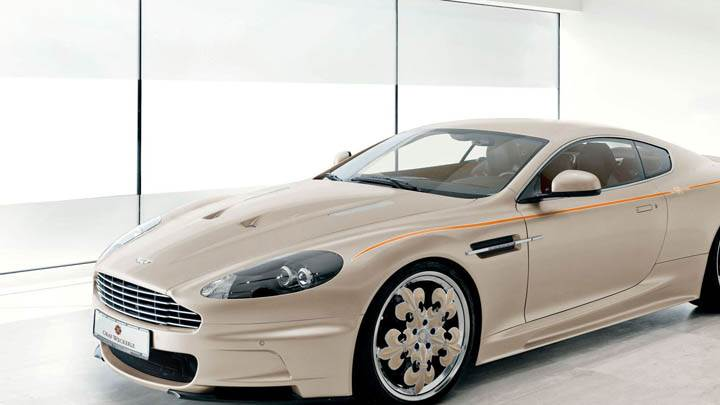 Aston Martin DBS Side Front Pose