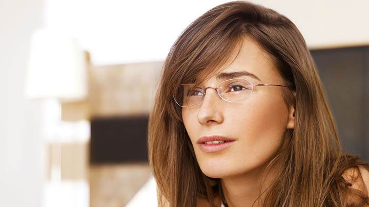 Attractive Female Model Wearing Glasses