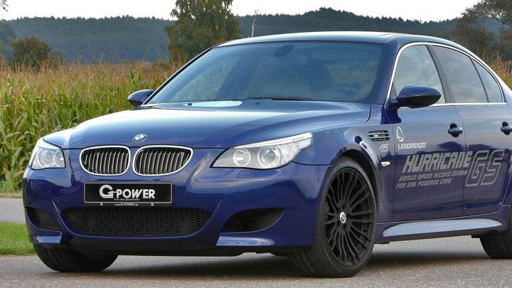 BMW G-Power M5 Hurricane GS Blue Color
