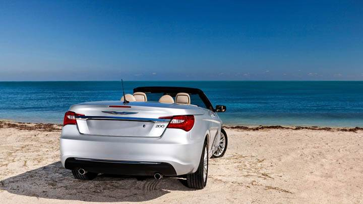 Back Pose 2011 Chrysler 200 Convertible Near Beach