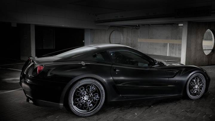 Black Ferrari 599 GTB Fiorano Standing In parking